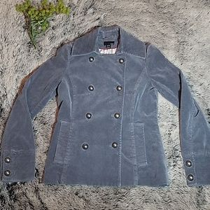 H&M Grey Military Button Pea Coat | Size 6